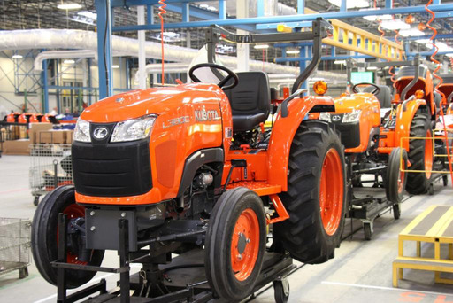 Kubota Tractor Corporation celebrated its new $73 million manufacturing facility in Jefferson, Ga. on April 8, 2013. The new plant will produce 22,000 units annually, including the Kubota L3800.