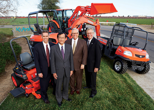Kubota Tractor Corporation announces new leadership team (l to r): Todd Stucke, Agriculture & Turf; Ken Kitao, President; Greg Embury, Marketing & Dealer Development; and, Ted Pederson, Construction.