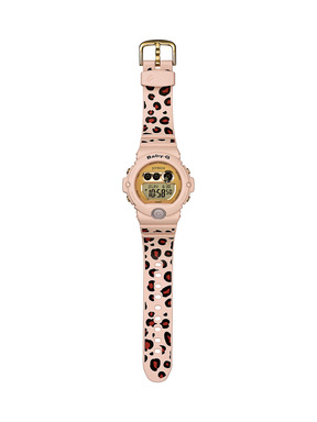The Baby-G BG6900JR-4 collaboration model features a leopard band paying homage to Joyrich's passion for prints.