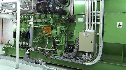 An emergency diesel generator aboard a Carnival Cruise Lines vessel. The company will significantly enhance emergency power capabilities aboard its fleet. (Photo by: Carnival Cruise Lines)