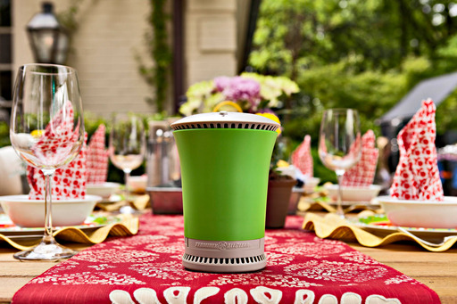 The Terminix ALLCLEAR TableTop Repeller is great for outdoor dining and provides protection from up to 95% of mosquitoes for a 15 X 15 space.