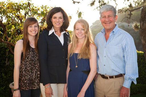 Natalie Stack (third from left) and her family have been battling cystinosis for over 20 years