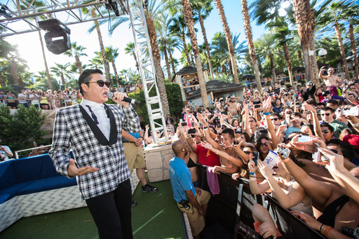 Psy performs at world famous REHAB