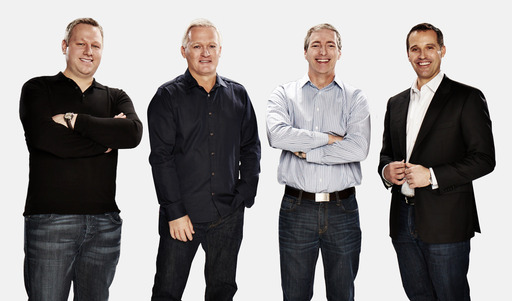 Ultimate Gaming Executive Team (L to R): Chief Marketing Officer Joe Versaci, Chief Executive Officer Tobin Prior, Chief Technology Officer Chris Derossi and Chairman Tom Breitling