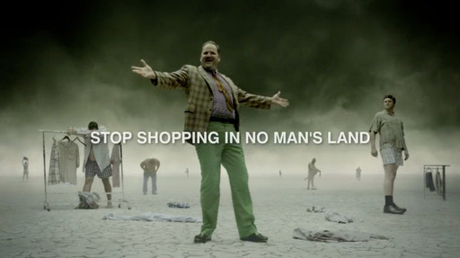 The TV spot, titled ''No Man's Land,'' uses humor to underscore the shared and relatable shopping frustrations bigger guys face and remind them that DXL is committed to addressing their fashion needs.