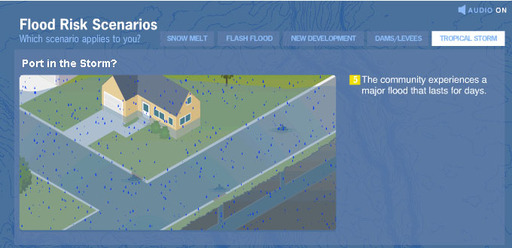 Learn about the various factors that can cause flooding: Flood Risk Scenarios Tool
