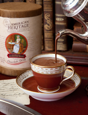 American Heritage Finely Grated Chocolate Drink—created for drinking and baking—comes in a re-sealable commemorative canister for enjoying everyday