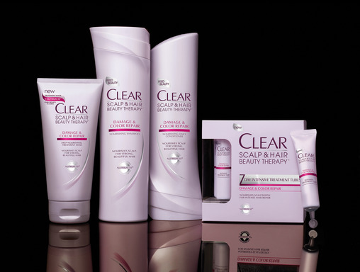 CLEAR SCALP & HAIR BEAUTY THERAPY Damage & Color Repair Shampoo, Conditioner, and Treatments