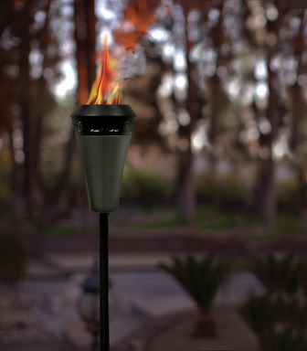 TIKI® Brand Island King® Large Flame Torch has a 5x larger flame than traditional bamboo torches.