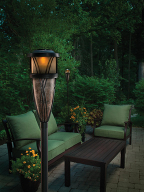 TIKI®  Brand Flame & Solar Torch combines the safely of a solar light with the ambience of a natural flame.