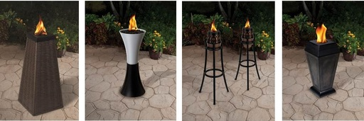 TIKI® Brand Fire Sculptures provide the perfect decorative bridge between a garden torch and fire pit.