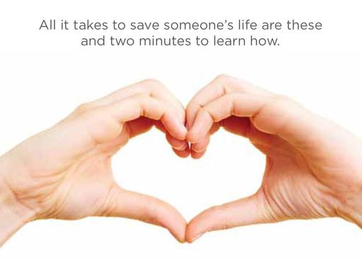 All it takes to save someone's life are these hands and two minutes to learn how