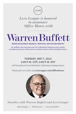 Levo League Office Hours Warren Buffett Invitation