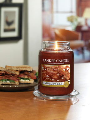 Yankee Candle's new, unique MMM, Bacon! fragrance is a mouth-watering addition to the Man Candles II collection.