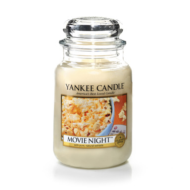 Movie Night™, a new addition to Yankee Candle's Man Candles II collection, features the enticing aroma of hot, freshly buttered popcorn.
