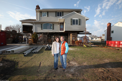 Carlos and Maria Santos' house in Point Pleasant, NJ flooded during Superstorm Sandy, enough that Carlos kayaked out of the house to find his wife and children at the evacuation center. THIS OLD HOUSE is there to follow their progress as they rebuild.