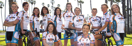 Phil Keoghan, Regina Lyalls and the NOW and Novartis for MS team posing for a group shot