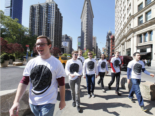 A cappella singers took to the streets of New York City today to launch the new OREO Wonderfilled campaign, performing the brand's new song and sharing OREO cookies.