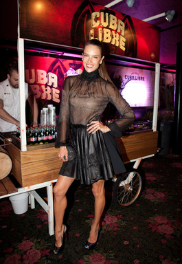 Alessandra Ambrosio at the Rolling Stone hosted BACARDI Rebels Concert Event on Cuban Independence Day