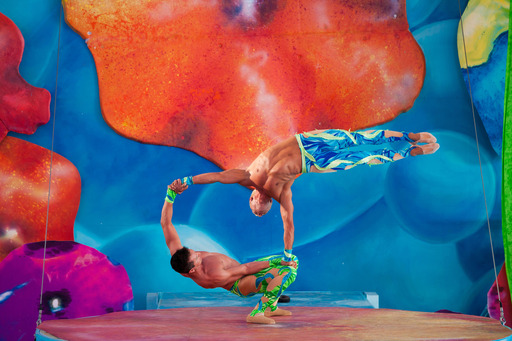 Cirque Dreams Splashtastic has its world premier at Six Flags Discovery Kingdom. This original show features Cirque Dreams artists, acrobats and aerialists and the park's bottlenose dolphins.