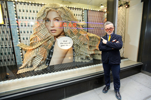Simon Doonan presents the Nexxus Salon Hair Care Window Installation at Duane Reade. Photo by Jemal Countess/Getty Images