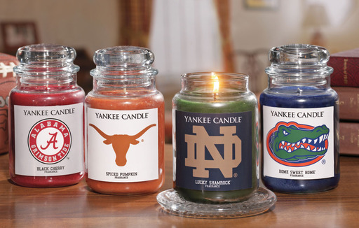 Relive traditions and fond memories with Yankee Candle's new Fan Candles collegiate collection