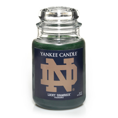 University of Notre Dame is one of 27 available Fan Candles in Yankee Candle's new collegiate collection