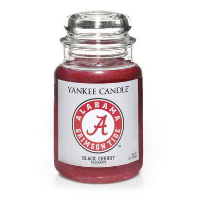 University of Alabama is one of 27 available Fan Candles in Yankee Candle's new collegiate collection