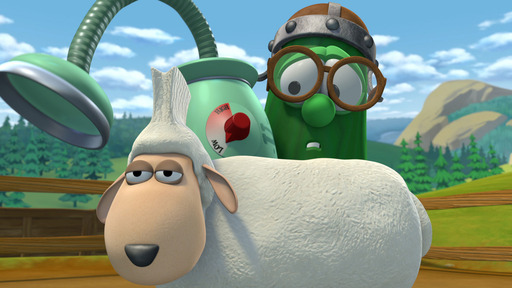 MacLarry, the star of the newest, upcoming DVD from VeggieTales® – MacLarry and the Stinky Cheese Battle – is a brilliant inventor, but not the best practical jokester.