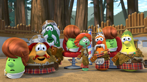In the newest DVD release from VeggieTales® – coming out in late July – the Veggie gang finds themselves in the midst of a practical joke battle, including water balloons, pies, and bad haircuts!