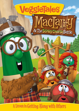 VeggieTales® will release its newest DVD – MacLarry and the Stinky Cheese Battle – in late July, which focuses on getting along with others and appreciating everyone's special talents.