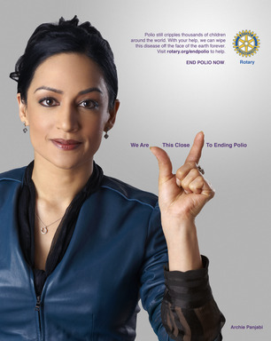 Actress Archie Panjabi lets the world know we are 'This Close' to eradicating polio.