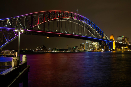 The world-famous Sydney Harbour Bridge has come alive with a spectacular lighting installation created by Vivid partner Intel Australia and Sydney's 32 Hundred Lighting for Vivid Sydney 2013.