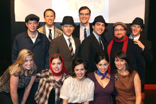 The original cast of Someone To Belong To at its debut at the People's Improv Theatre in November, 2012.