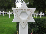 Lt. Murray M. Blum, who died December 3, 1943, is buried at Cambridge American Cemetery in England.
