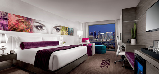 The brand new, award-winning Ivory Tower Guestroom at Palms Casino Resort
