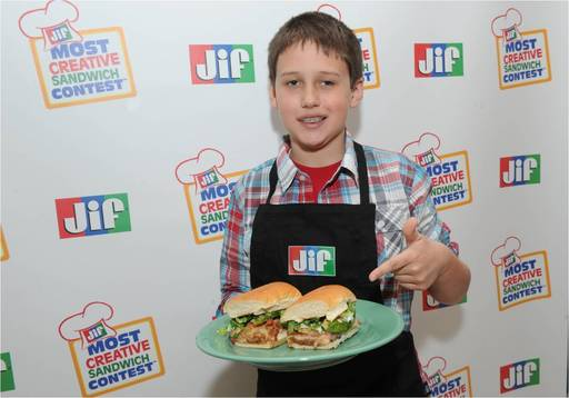 Jacob C., age 9 from Morganton, NC, was named the Grand Prize Winner of the 11th Annual Jif® Most Creative Sandwich Contest™ on March 21, 2013 at an event in New York City.