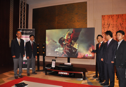 The highly anticipated 100-inch LG Laser Display offering Full HD 1080p screen resolution with incredible contrast and LG's laser based technology was unveiled at a grand event in Dubai, UAE on 23rd June.