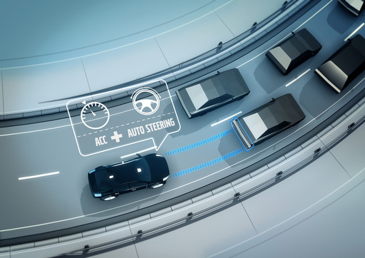 Adaptive Cruise Control with steer assist helps the driver stay in the lane and follow the rhythm of the traffic.