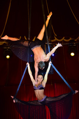 FUNAMUBLA, Beau Rivage Resort & Casino's summer show runs June 11-Aug. 11 and features an international cast of accomplished performers including dual aerial strap artists who dangle effortlessly from thin straps mounted high above the Beau Rivage Theatre
