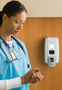 Hill-Rom has developed a new system to help hospitals monitor hand-hygiene rates: the Hill-Rom® Hand Hygiene Compliance Solution.  The new offering is now available to hospitals nationwide.