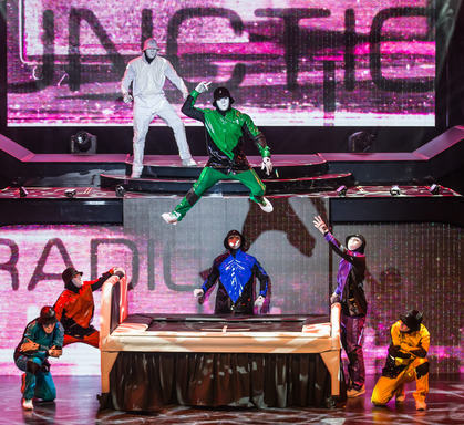 "Jabbawockeez performing in new Las Vegas show ""PRiSM"" at Luxor. Photo credit Erik Kabik."
