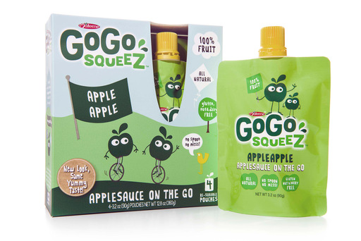 GoGo squeeZ all-natural, 100% fruit squeezable applesauce on-the-go