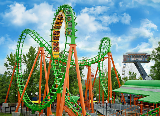 Six Flags St. Louis, The Coaster Capital of Missouri, opens it's 9th coaster. Boomerang stands 125-ft tall and turns riders upside down six times as they fly over the track both forward and backward.