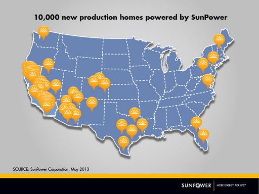 10,000 new production homes across the US are powered with SunPower solar systems