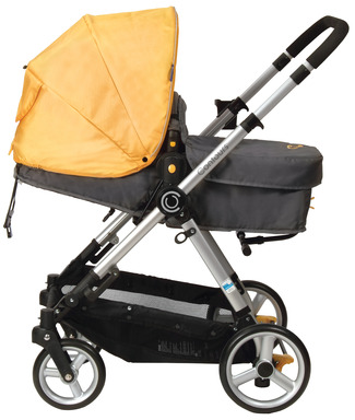 When used in the pram mode, Contours bliss features a padded infant insert to keep your infant comfortable.