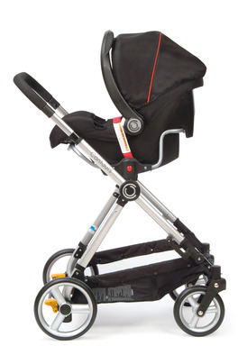 Contours bliss includes an infant car seat adapter that is compatible with more than 20 different infant car seats so you can create your own travel system.
