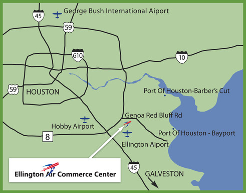 Ellington Air Commerce Center Map