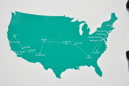 #SageListens 16-city customer tour route across America to encourage people to shop local