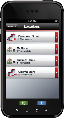 Honeywell Total Connect Comfort app: Access multiple properties with the Total Connect Comfort app.